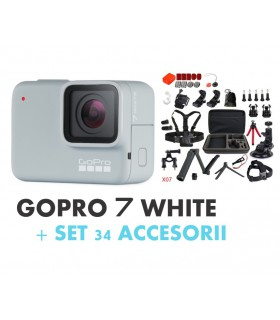 Pachet Promo 2 - Gopro Hero 7 White + Set 34 Accesorii Compatibile