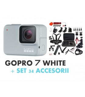 Pachet Promo 2 - Gopro Hero 7 White + Set 34 Accesorii