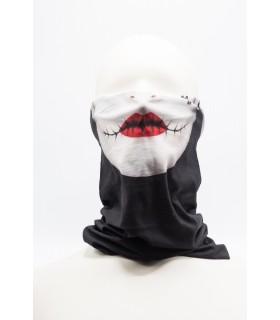 Masca / Bandana Imprimeu 3D Pentru Fata model Negru 1