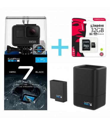GoPro Hero 7 Black ,Incarcator Original Gopro Cu Baterie 1220 mAh, Card Kingston 32 GB