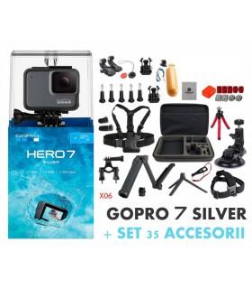 Pachet Promo 2 - Gopro Hero 7 Silver + Set 35 Accesorii