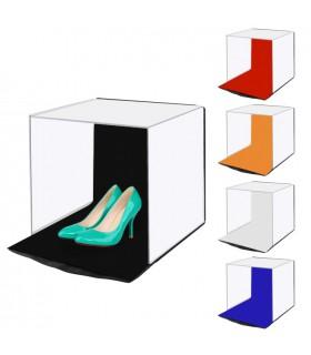 Accesorii camere video Studio Foto pliabil cu 5 Culori Fundal 40 X 40 X 40 CM PULUZ Xtrems.ro