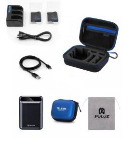 Combo Accesorii Inregistrare Indelungata compatibil Gopro Hero Black 5, 6 si 7