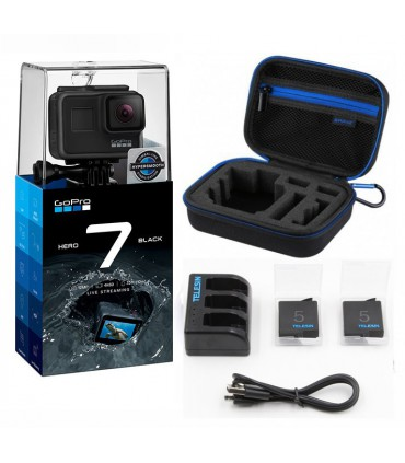 Pachet Promo 2 - Gopro Hero 7 , Geanta S, Set Baterii Si Incarcator Compatibile