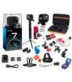 GoPro Pachet Gopro 7 Black Ultimate - Set 35 Accesorii ,Card Kingston 32 Gb, Incarcator Si 2 Baterii, Carcasa Carduri GoPro X...
