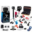GoPro Pachet Gopro 7 Black Ultimate - Set 35 Accesorii Compatibile ,Card Kingston 32 Gb, Incarcator Si 2 Baterii, Carcasa Car...