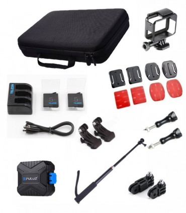 Combo 21 accesorii compatibile camera Gopro Hero Black 5,6,7,8 Black