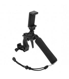 Grip flotant tip pistol cu declansator si suport telefon