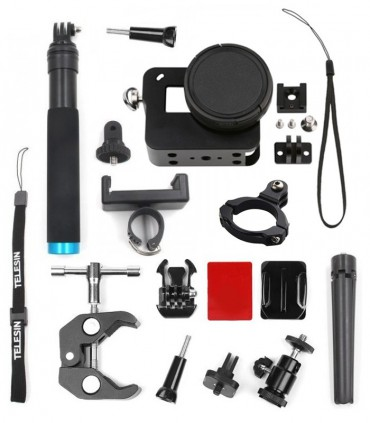 Set CNC 19 accesorii Compatibile Gopro 5 6 7 Black