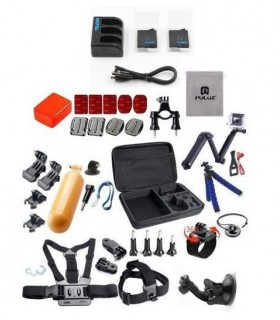 Seturi accesorii Set 37 componente compatibile Gopro + Geanta XL Selfie Stick Monturi Adezive Tripod Floating Xtrems Xtrems.ro