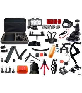 Set 42 Accesorii - Lanterna, Selfie 3 Way, Ventuza Mare - Compatibile Gopro, Sjcam, Xiaomi