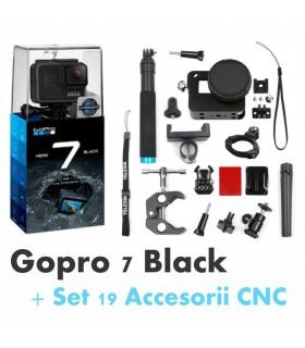 Gopro Hero 7 Black + Set 19 Accesorii CNC