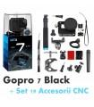 GoPro Gopro Hero 7 Black + Set 19 Accesorii Compatibile CNC GoPro Xtrems.ro
