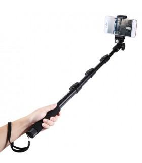 Monopod / Selfie Stick Aluminiu 4 Tronsoane Cu Cleme De Fixare - 120 Cm