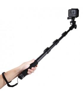 Selfie Stick Monopod / Selfie Stick Aluminiu 4 Tronsoane Cu Cleme De Fixare - 120 Cm PULUZ Xtrems.ro