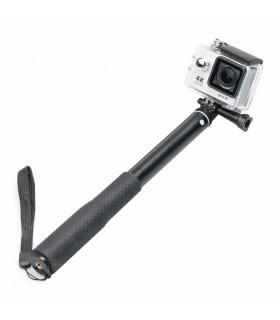 Selfie stick Aluminiu 4 tronsoane Compatibil Gopro