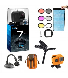 Pachet GoPro Hero 7 Black + 5 Accesorii Compatibile Gopro 5, 6 si 7