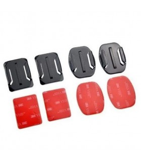 Accesorii camere video Set monturi adezive plate si curbe Compatibile Gopro Xtrems Xtrems.ro