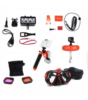Pachet 6 Accesorii Compatibile Filmare Subacvatica Gopro 5, 6 si 7 Black