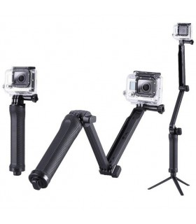 Accesorii camere video Selfie stick 3 tronsoane + mini trepied compatibil Gopro Xtrems Xtrems.ro