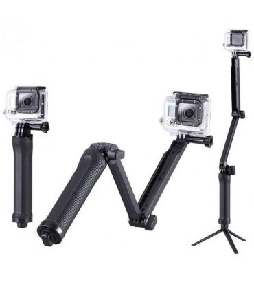 Selfie stick 3 tronsoane + mini trepied Gopro