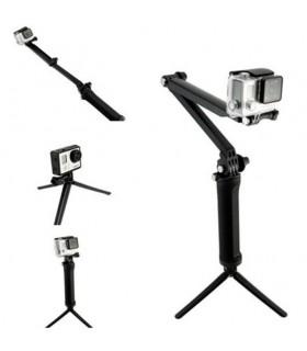 Selfie Stick Selfie stick 3 tronsoane + mini trepied compatibil Gopro Xtrems Xtrems.ro
