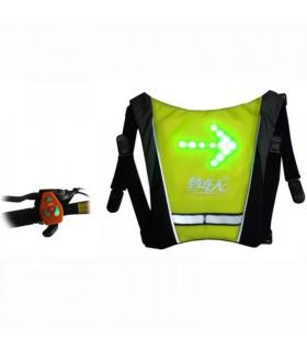 Accesoriu reflectorizant cu sistem de semnalizare Joyor, cu sistem de prindere pe rucsac + telecomandă