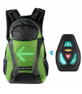 Rucsac reflectorizant cu sistem de semnalizare rutieră LED 18L + telecomandă wireless