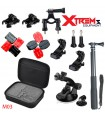 Seturi accesorii Set 19 accesorii Gopro , Selfie Stick, Ventuza, Geanta M03 Xtrems Xtrems.ro