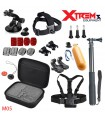 Seturi accesorii Set 25 Accesorii Gopro , Sjcam, Xiaomi - Geanta transport, Selfie Stick M05 Xtrems Xtrems.ro