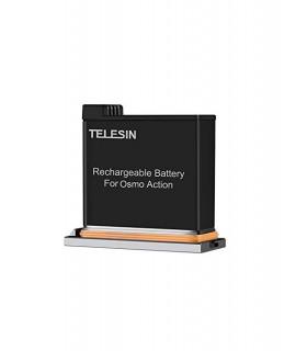 Baterii/Incarcatoare Baterie Telesin Compatibila DJI Osmo Action 1300 mAh, Inregistare indelungata Telesin Xtrems.ro