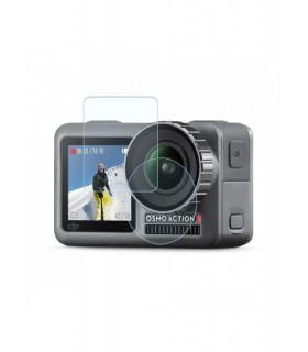 Folie De Sticla Pentru Obiectiv Si Ecran LCD Telesin Compatibila DJI Osmo Action