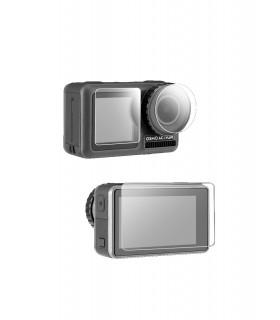 Carcase/Protectii Folie De Sticla Pentru Obiectiv Si Ecran LCD Telesin Compatibila DJI Osmo Action Telesin Xtrems.ro