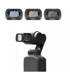 Set 3 Filtre Magnetice Polarizate ND4 ND8 ND16 Telesin Dji Osmo Pocket
