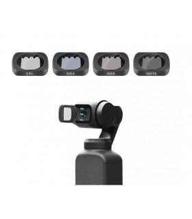 Set 4 Filtre Magnetice Polarizate CPL ND4 ND8 ND16 Telesin Dji Osmo Pocket