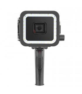Accesorii Carcasa Subacvatica Cu Lampa LED Si Declansator Compatibila GoPro Hero 5, 6, 7 Black Xtrems Xtrems.ro