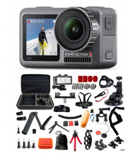 DJI Camera Sport DJI Osmo Action + Set 35 Accesorii Cu Geanta, Selfie Stick Si Lanterna Dji Xtrems.ro