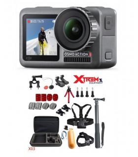 DJI Camera Sport DJI Osmo Action + Set 26 Accesorii Cu Geanta Si Selfie Stick Dji Xtrems.ro