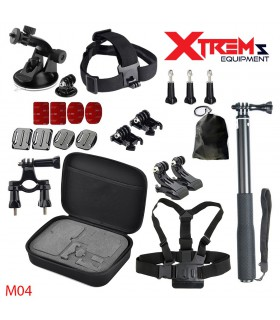 Seturi accesorii Set 22 Accesorii compatibile Gopro, Selfie Stick, Ventuza, Geanta de transport M04 Xtrems Xtrems.ro