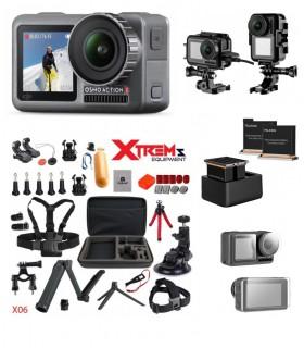 DJI Camera Sport DJI Osmo Action + Set 35 Accesorii, Carcasa, Folie Protectie, Set Incarcator Si 2 Baterii Dji Xtrems.ro