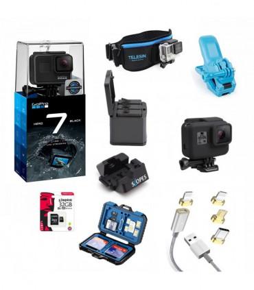 Pachet GoPro Hero 7 Black Si 9 Accesorii Compatibile Gopro 5, 6 si 7 Black