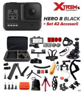 GoPro Pachet Promo GoPro Hero 8 Black + Set 42 Accesorii Cu Geanta Si Lanterna Led GoPro Xtrems.ro