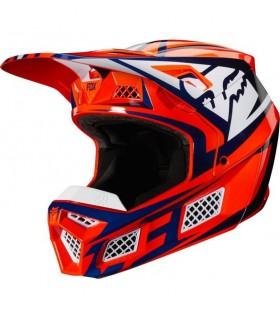 Casca FOX V3 Idol Helmet, ECE [ORG/BLU]