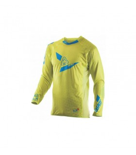 Tricou LEATT GPX 5.5 ULTRAWELD M LIME/BLUE